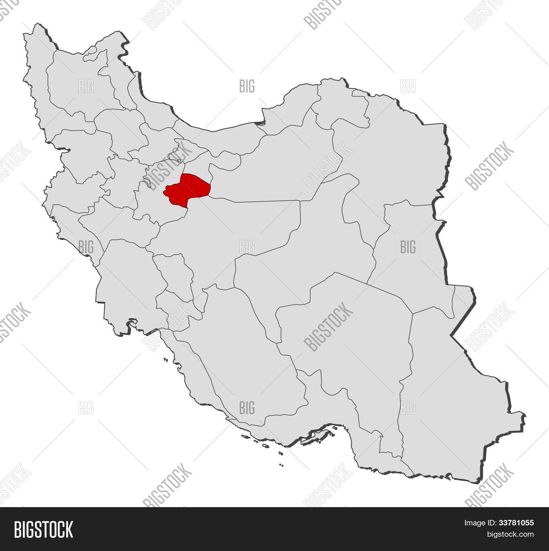 map of iran qom highlighted