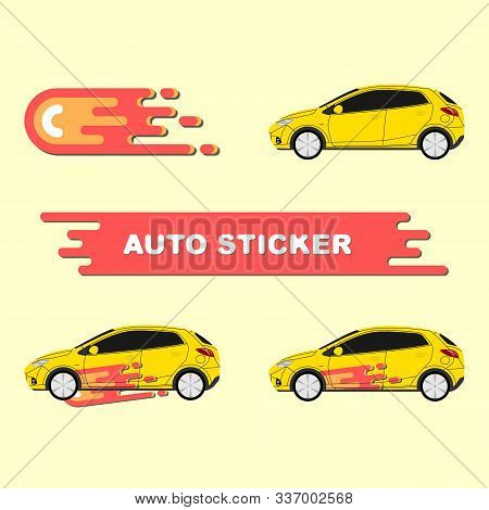 Car Decal Wrap Vector For Vehicle, Race Car, Rally, Adventure, Branding, Auto Service, Delivery Comp
