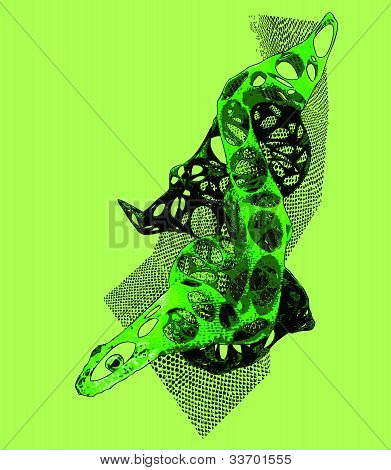 Snake abstract shape