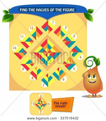 Find The  Shape Halves  Logic Rhombus