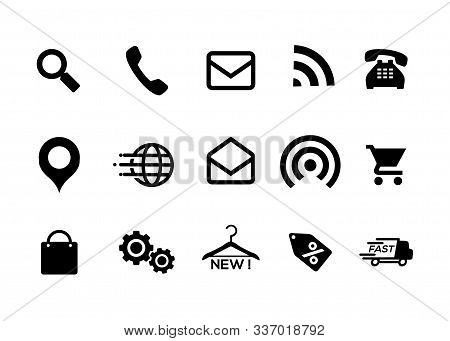 Icons Black And White, Icons, Online Store, Icon Pack, Home Icon, Telephone Icon, Mail, Icon, Naviga