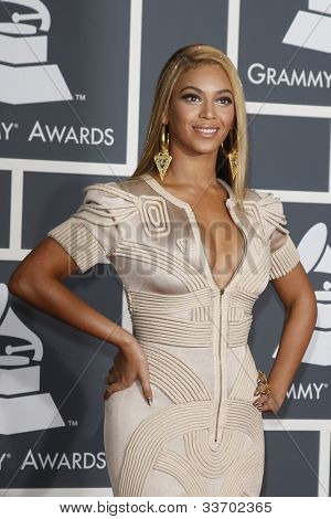 LOS ANGELES, CA - JAN 31: Beyonce Knowles at the 52nd Annual GRAMMY Awards held at the Nokia Theater on January 31, 2010 in Los Angeles, California