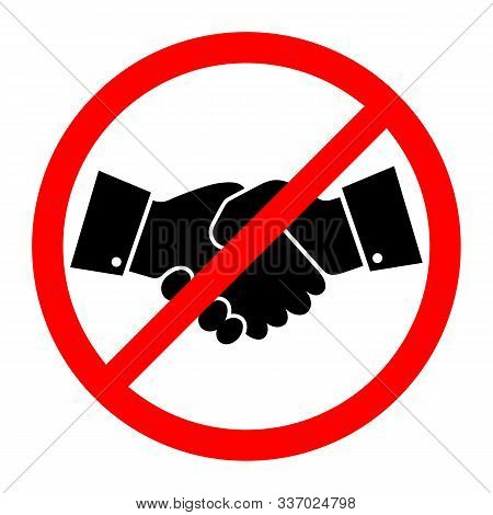 No Handshake Icon. Vector Illustration. No Dealing. No Collaboration