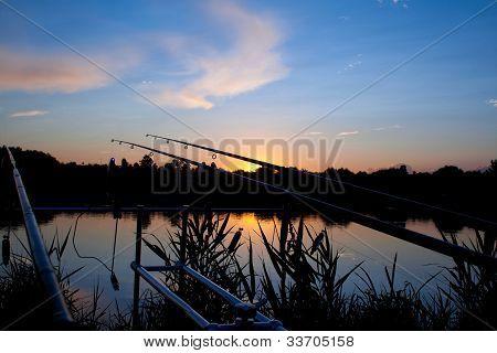 Carp Fishing Sunrise