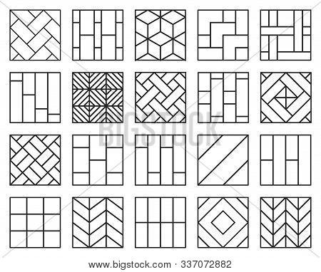 Parquet Floor Line Vector Illustration On White Background .wood Floor Set Icon.vector Illustration
