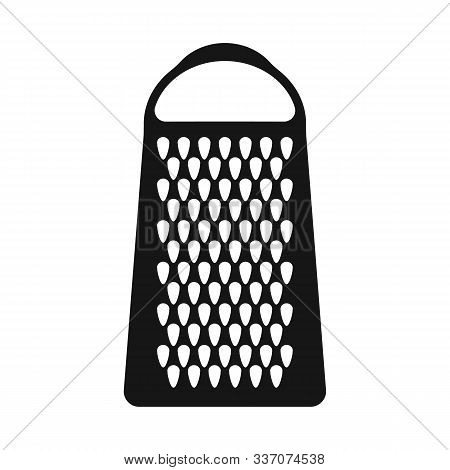 Isolated Object Of Grater And Flatware Sign. Graphic Of Grater And Instrument Stock Vector Illustrat
