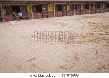 A Large Arena With Sand For Horses . Elite Horse And Polo Club . Training Ground. Horse Club. Sand S