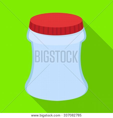 Isolated Object Of Container And Soda Sign. Set Of Container And Nonalcoholic Stock Vector Illustrat