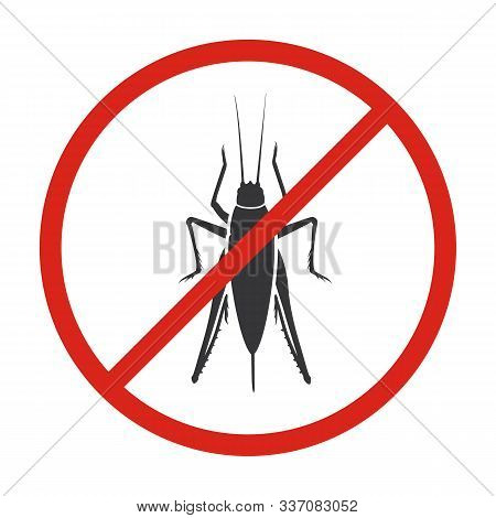 Insect Grasshopper Vector Icon.black Vector Icon Isolated On White Background Insect Grasshopper .