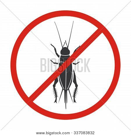 Insect Cricket Vector Icon.black Vector Icon Isolated On White Background Insect Cricket .