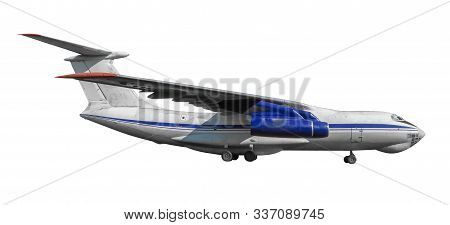 Scale Model Of Old Il-76 Is A Strategic Airlifter Designed By The Ilyushin Design Bureau. Photo With