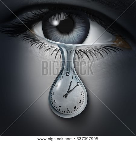 Time Anxiety Psychology And Mental Health Disorder Caused By The Fear Of Death And Being Late Or Fee