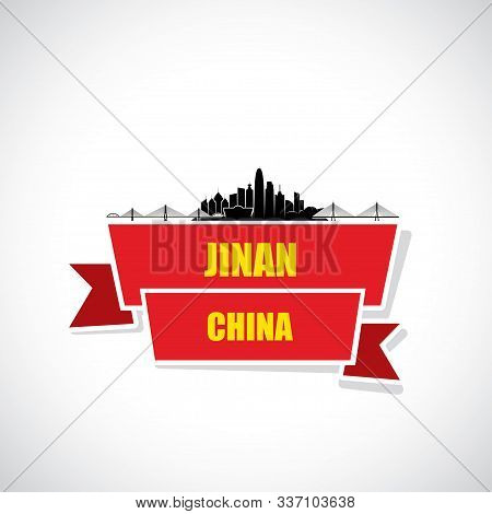Jinan Skyline - China - Vector Illustration - Vector