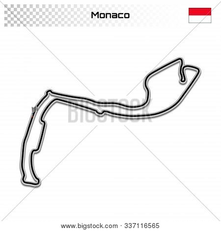 Monte Carlo Circuit For Motorsport And Autosport. Monaco Grand Prix Race Track.