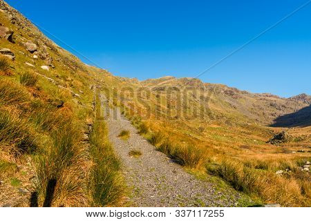 Head Of Wales Welsh Sunny Valley With Old Incline