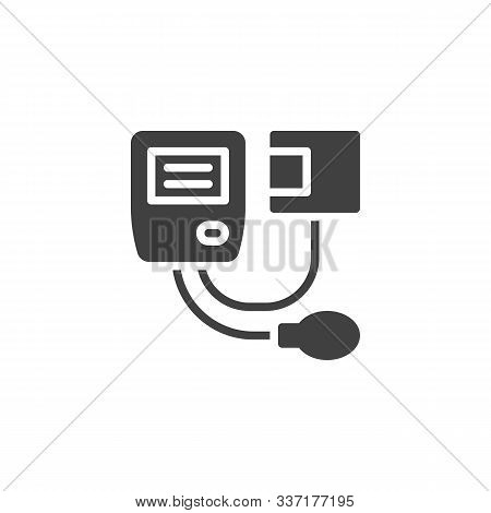 Blood Pressure Meter Vector Icon. Filled Flat Sign For Mobile Concept And Web Design. Medical Blood