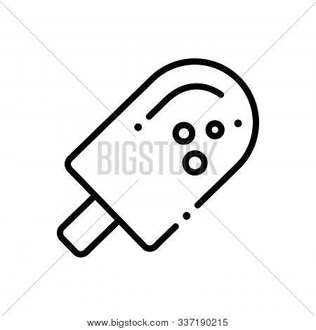 Black Line Icon For Eskimo  Ice-cream Sweet Delicious Cold