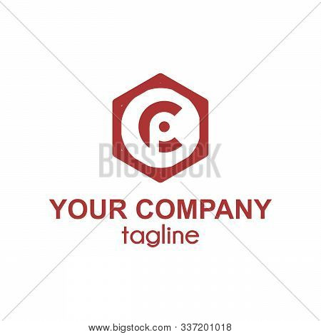 Cp, Pc Initial Hexagonal Company Logo And Icon