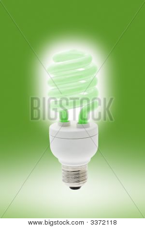 Glowing Energy Saving Light Bulb