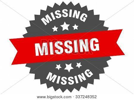 Missing Sign. Missing Red-black Circular Band Label