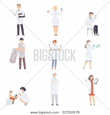 Doctor Characters Collection, Professional Medical Workers, Optometrist, Neurologist, Radiologist, L
