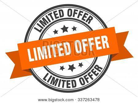 Limited Offer Label. Limited Offer Orange Band Sign. Limited Offer