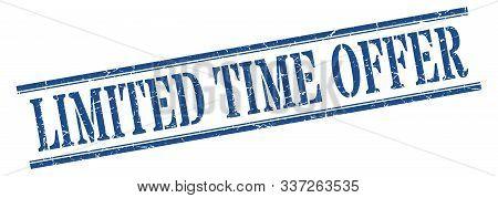 Limited Time Offer Stamp. Limited Time Offer Square Grunge Sign. Limited Time Offer