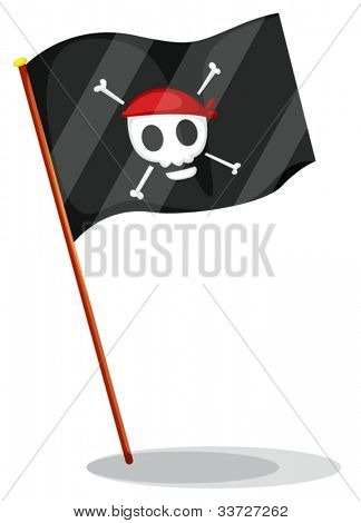 Illustration of a pirate flag