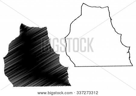 Ahmadi Governorate (state Of Kuwait, Governorates Of Kuwait) Map Vector Illustration, Scribble Sketc