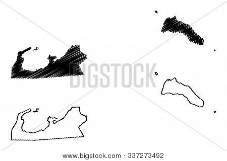 Al Asimah Governorate (state Of Kuwait, Governorates Of Kuwait) Map Vector Illustration, Scribble Sk