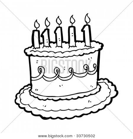 Cartoon Birthday Cake Vector Photo Bigstock