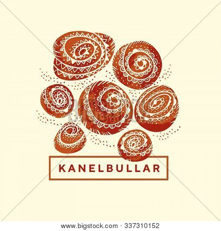 Folk Style Cinnamon Rolls For Kanelbullar Day