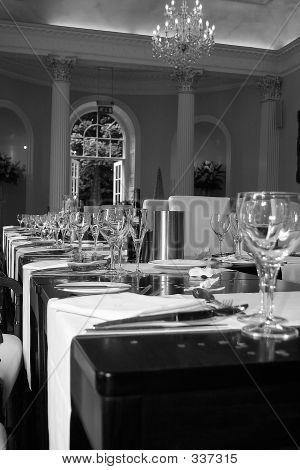Wedding Table B&w