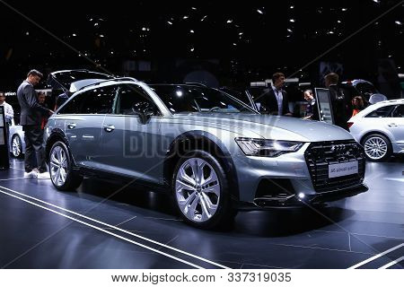 Frankfurt Am Main, Germany - September 18, 2019: Luxury Estate Car Audi A6 Allroad Quattro Presented