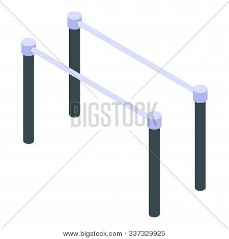 Parallel Bars Icon. Isometric Of Parallel Bars Vector Icon For Web Design Isolated On White Backgrou
