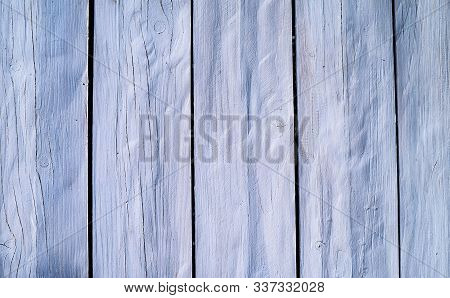 Texture Of Old Painted Boards. Light Background From Painted Planks.