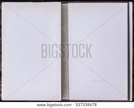 Inside Part Of A White Book Front Cover.
