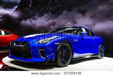 Bangkok, Thailand - Decemebr 3, 2019 : 50th Anniversary Of Nissan Gt R Super Sport Car Display On Th