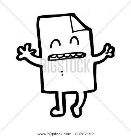 cartoon happy paper character