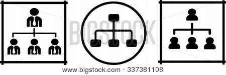 Organizational Structure Icon On White Background  Team, Teamwork, Tree