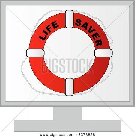 Monitor W Life Preserver.