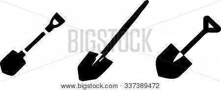 Shovel Vector On White Background Riveted, Sand, Seam