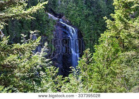 Ok Slip Falls, One Of The Highest Waterfalls In The Adirondacks.