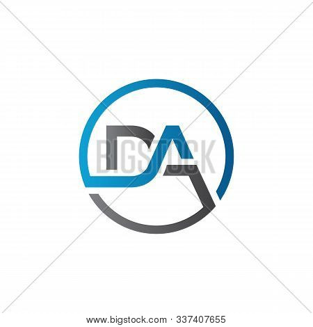 Initial Da Letter Logo With Creative Modern Business Typography Vector Template. Creative Letter Da