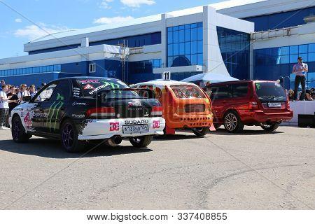 Yoshkar-ola, Russia, June 02, 2019: Auto And Motorcycle Exhibition - Festival - Yo Summit 2019 - Aut