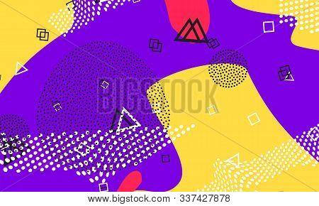 Lavender Kinder Composition. Cartoon Artwork. Coral Vector Flyer. Yellow Abstract Illustration. Deco