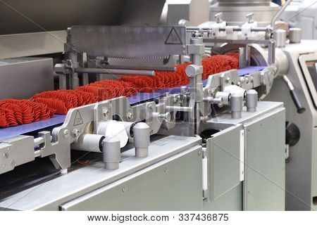 Molding System For The Production Of Meat Products At The Factory.