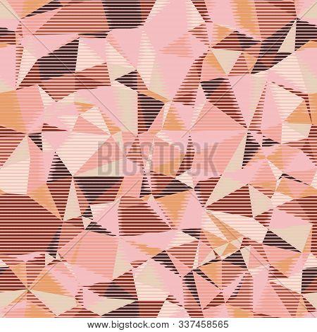 Random Seamless Pink Triangle Pattern Tile Mess