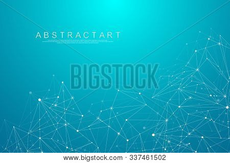 Abstract Big Data Visualization Digital Network Connection Concept Background. Artificial Intelligen