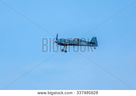 Cadiz, Spain-sep 13:  Juan Velarde On His Sukhoi Su-26m Taking Part In An Exhibition On The 1st Airs